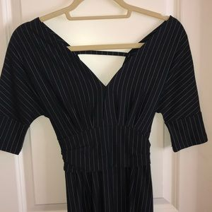 Date Dress with pin stripes